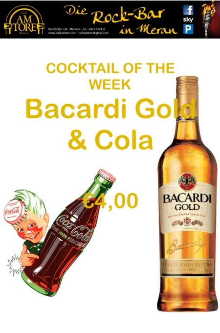Cocktail Nr. 1 August 2016 Bacardi Gold & Cola