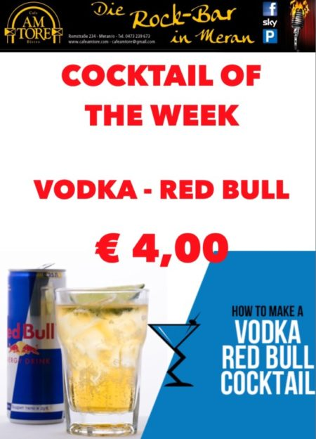 Cocktail Nr.2 Oktober Vodka & Red Bull