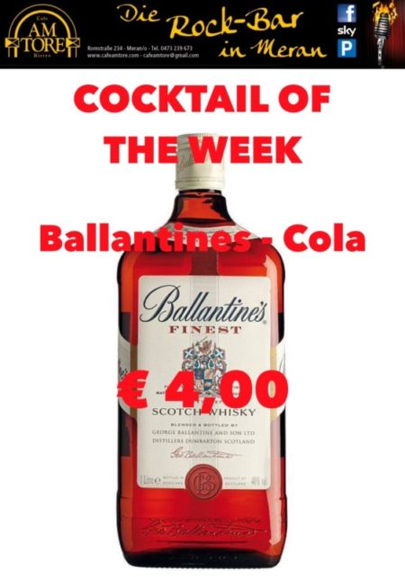Cocktail Nr. 4 Februar Ballantines & Cola