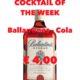 Cocktail Nr. 4 Februar Ballantines & Cola
