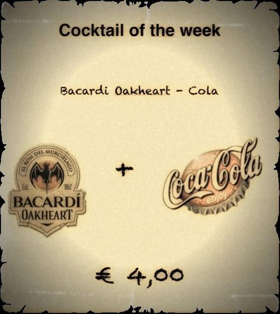 Cocktail Nr. 3 Februar Bacardi Oakheart & Cola