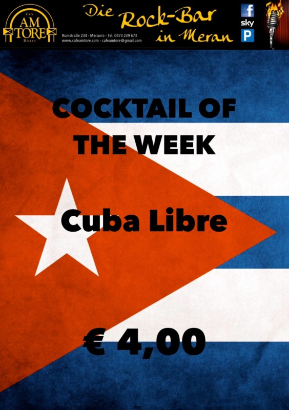 Cocktail Nr. 3 September Cuba Libre