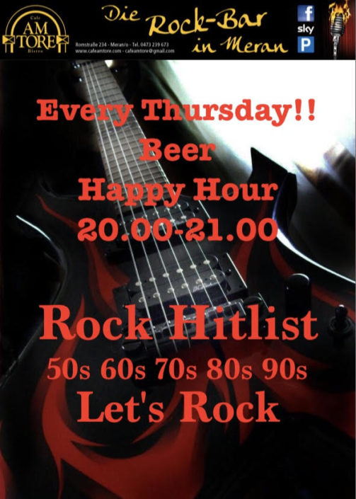 Every Thursday Rock Hitlist & Happy Hour