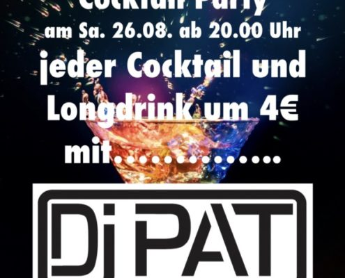 Cocktail Party mit DJ PAT