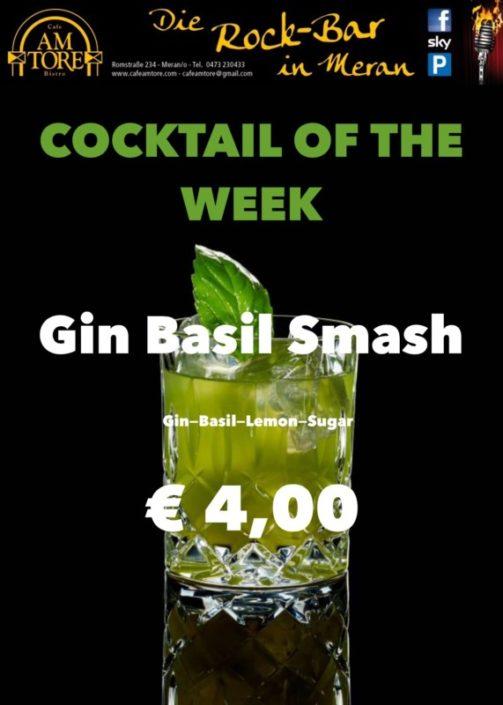 Cocktail Nr.1 April - Gin Basil Smash