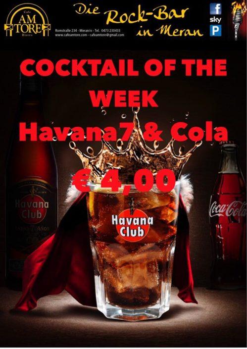 Cocktail Nr.1 Dezember Havana7 & Cola