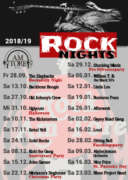 Rocknight 2018/2019 Cafe Am Tore