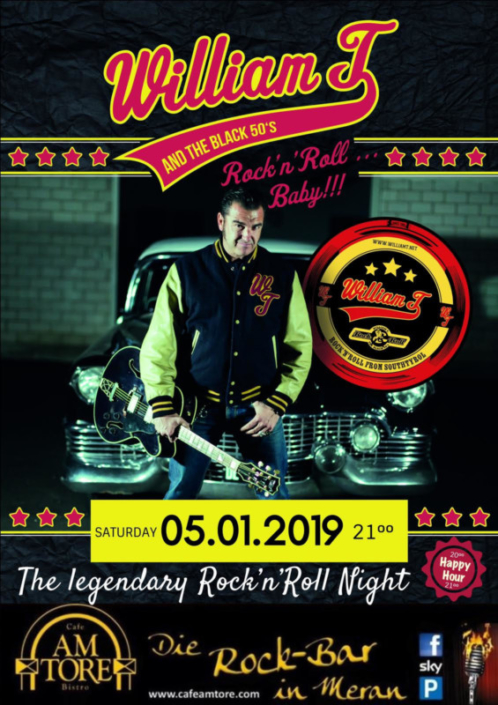Rock´n Roll Night Live with William T & Black 50´s