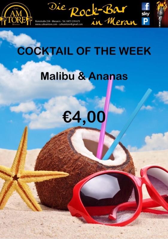 Cocktail Nr.2 Februar Malibu Ananas