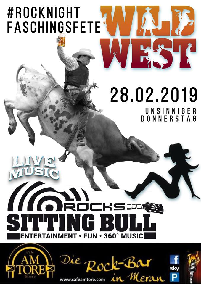 Wild West Faschingsparty mit Sitting Bull Live