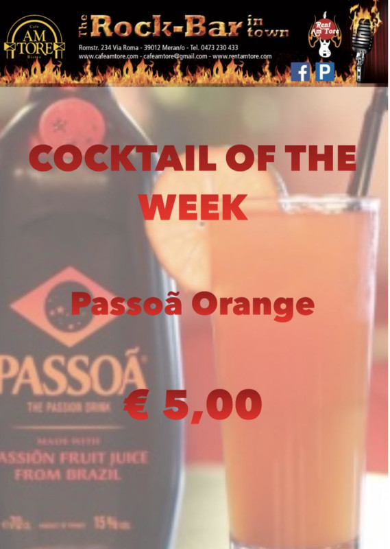Cocktail Nr.4 Oktober Passoa Orange