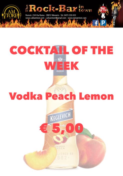 Cocktail Nr.2 Oktober Vodka Peach Lemon