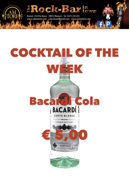 Cocktail Nr.1 Dezember Bacardi Cola