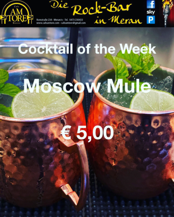 Cocktail 1. Juli Moscow Mule