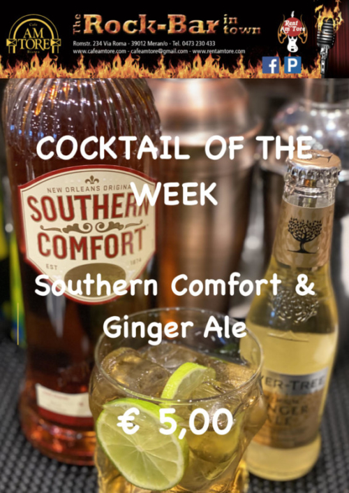 Cocktail of the Week Nr.4 September Southern Comfort & Ginger Ale