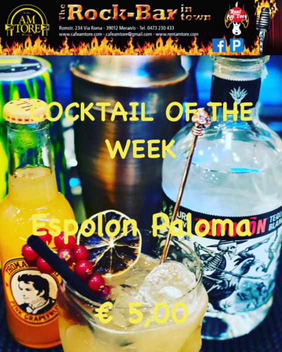 Cocktail of the Week Nr.1 Oktober Espolon Paloma