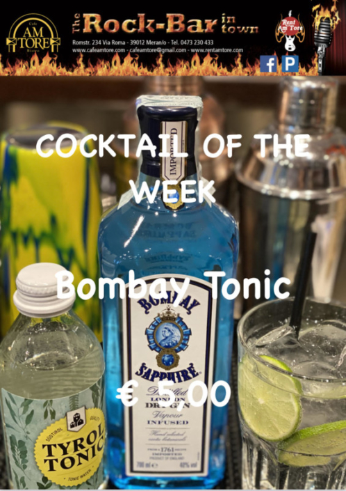 Cocktail of the Week Nr.2 Oktober Bombay & Tonic
